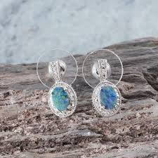 nickel free earrings australia australian boulder opal earrings in platinum overlay sterling