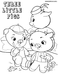 three little pigs coloring sheet three little pigs coloring