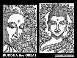 buddha gautama buddha painting drawing art illustration