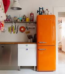 funky kitchen ideas funky kitchen ideas with retro appliances and unique orange fridge