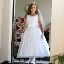 communion dress garment big white mesh lace tulle bead bolero
