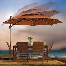 Offset Patio Umbrella Cover Outdoor Patio Cantilever Umbrella 11 Foot