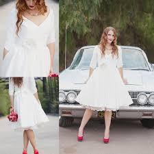 online shop vintage 1950s style short beach wedding dress with