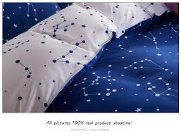active printed galaxy bedding set king size stars duvet cover