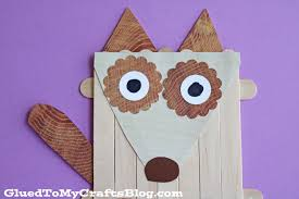 popsicle stick dog kid craft glued to my crafts