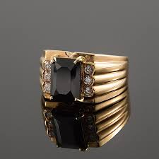 men gold rings black ring men gold ring men signet ring men black