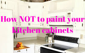 how not to paint your kitchen cabinets 1915 house