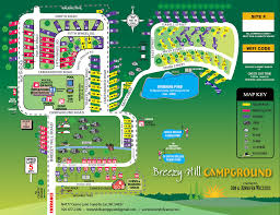 Wisconsin Campgrounds Map by Campground Map Breezy Hill Campground