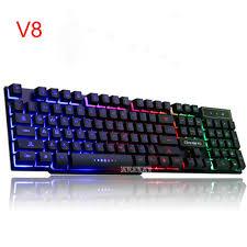 ordinateur de bureau jeux v8 claviers rétro éclairage jeu ordinateur de bureau maison lumineux