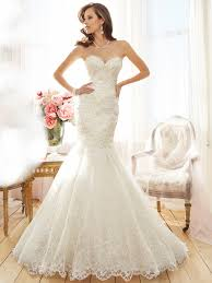mermaid wedding dresses strapless mermaid wedding dress with chapel