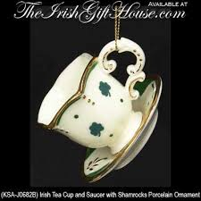 ornament shamrock teacup