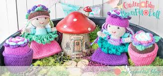 garden fairy flower pot doll u2013 crochet pattern u2013 my creative blog