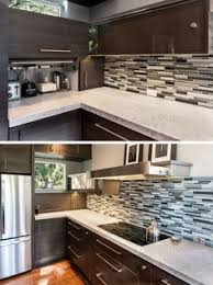 Small Kitchen Appliances Garage With Tiled Backsplash by Keep It Out Of Sight In An Appliance Garage Doors Coffee And Easy