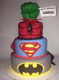 superhero cake batman superman spiderman hulk fist cakecentral com