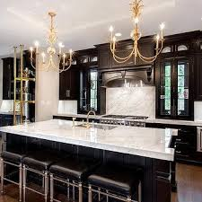 Black And White Kitchen Chairs - white kitchen with black and gold barstools contemporary kitchen
