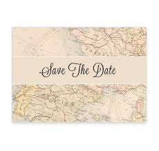 around the world wedding save the date card loving invitations