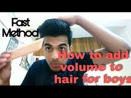 haircuts that need no jell for guys how to add volume to hair for boys medium hair without gel