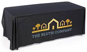 6ft Imprinted Table Cover Custom Custom Logo Tablecloths For Exhibition Use With Custom Logo