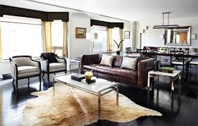 Cowhide Rug Living Room Ideas | 20 living rooms adorned with cowhide rugs home design lover