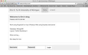 Maps Michigan Login by Personal Website Blogging System In Node Js And Angularjs Seelio