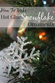 glue snowflake ornaments the frugal farm