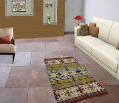 Indian Runner Rug Multicolor Cotton Jute Rag Rug Floor Runner Indian Carpet Dari
