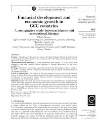 financial development and economic growth in gcc countries a