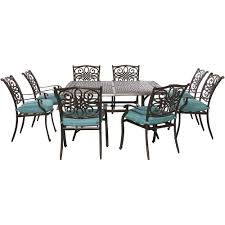 dining room sets 9 piece hanover traditions 9 piece outdoor square patio dining set with