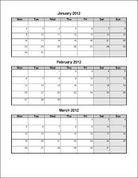 quarterly calendars to print blank calendar design 2017