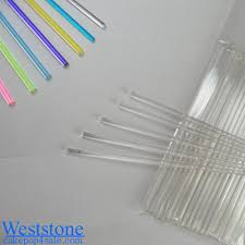 weststone 50pcs 6 u0027 x 5 32 u0027 clear lollipop sticks for cake pops