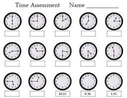 time assessment worksheet by empowered by them tpt - Telling Time Assessment Worksheet