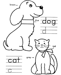 cat and dogs colouring pages page 3 cats and dog pictures to
