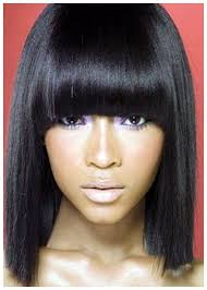 2017 black long hairstyles with bangs