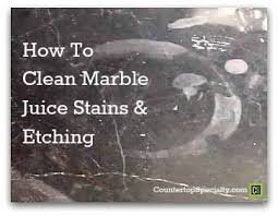 cleaning marble juice stains
