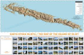 Islands Of Adventure Map The Map Of The Island Of Mljet Takeadventure