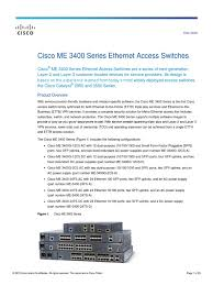cisco me3400 datasheet computer network network switch