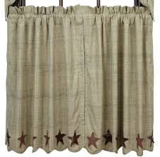 Country Curtains Sturbridge Plaid by Primitive Country Tier Curtains 36l