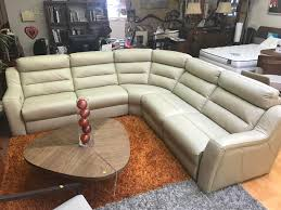 Leather Recliner Sectional Sofa Kuka Sectional Sofa Leather Recliner Beige Leather Sectionals