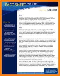 Sheet Template Word 9 Fact Sheet Template Word Janitor Resume