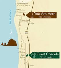 map of oregon lighthouses lighthouse inn cannon lodging hotels on the oregon coast