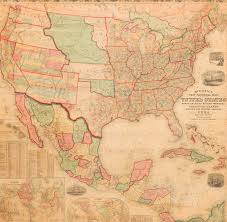 Arizona Strip Map by 1858 Mitchell New National Map Exhibiting The United States With