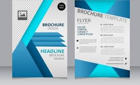 brochure template checkered background 3d blue curves vectors