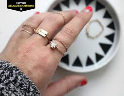 chain rings jewellery images My diy delicate chain ring i spy diy bloglovin 39