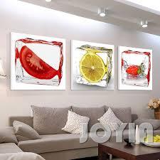 aliexpress com buy 3 panel modern wall art dining room