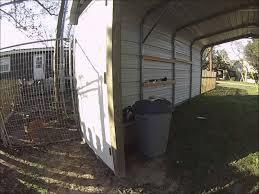 Steel Car Port Part 2 How To Enclose A Metal Carport Back Door And Setting