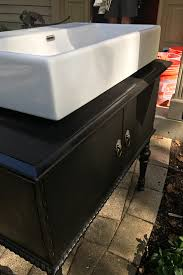 Handmade Bathroom Cabinets - an antique dresser into a bathroom vanity one room challenge week