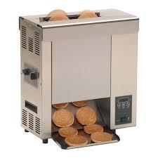 Bun Toaster Prince Castle Roundup Vct 2000 9210116 Vertical Toaster W 10 Sec Pass Thru Time