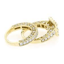 Circle Diamond Wedding Ring by Princess Cut Round Diamond Engagement Ring Wedding Band Set 3 5ct