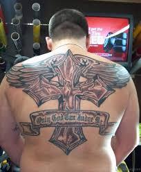 60 fabulous cross tattoos for back