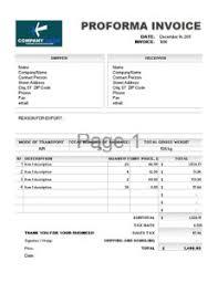 pro forma invoice templates printable paper invoices